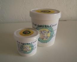 both pots vanilla ice-cream