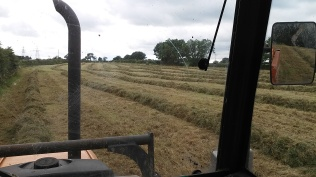 Baling the haylage