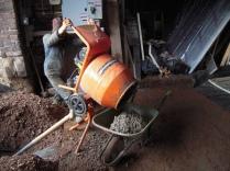Concreting the shop floor