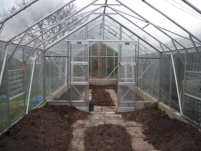 greenhouse ready for seedlings